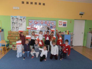 Święto Niepodległości 11 listopada w Przedszkolu nr 1 im. Niezapominajka