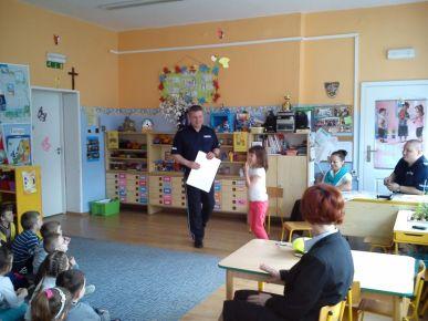 Wizyta policjantów w przedszkolu nr 1